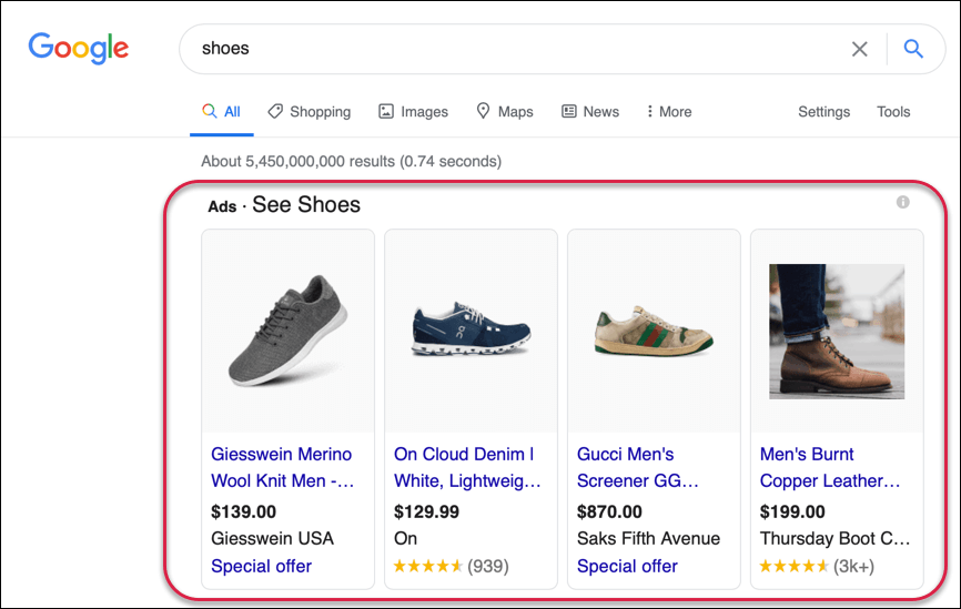 Google Ads: Shopping Campaign