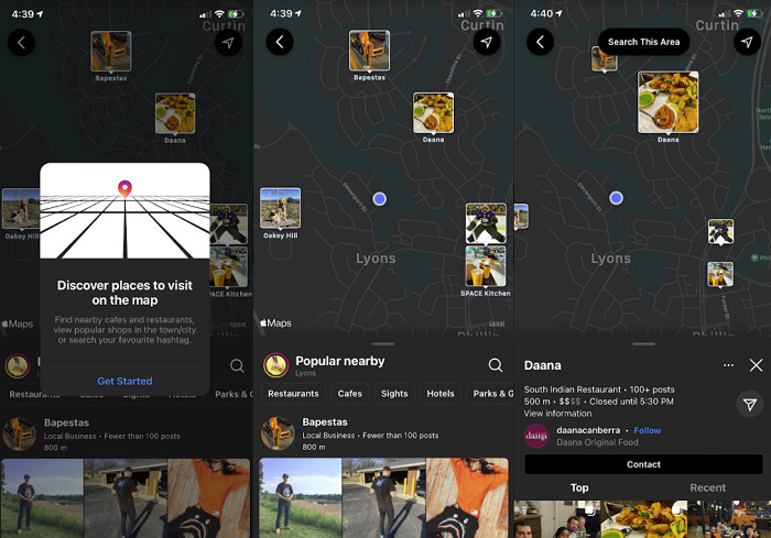 Instagram Map Search
